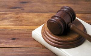 Gavel used in criminal defense case