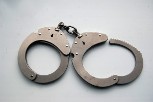 Handcuffs from a criminal defense case